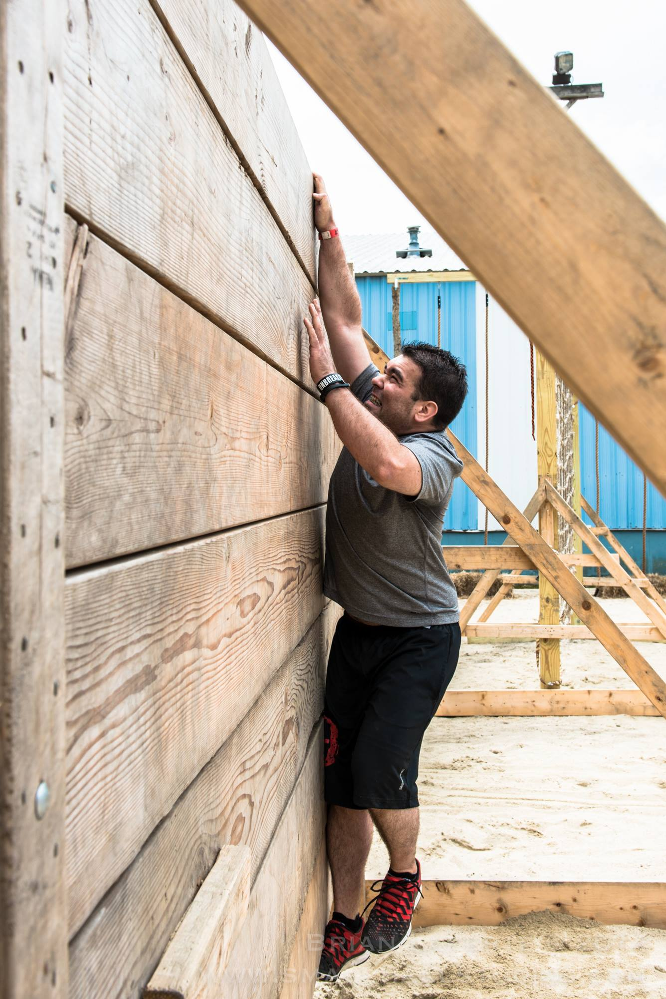 Obstacle Course Race Wall Climb
