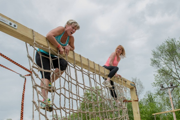 Cargo Net Climb Obstacle Course Race