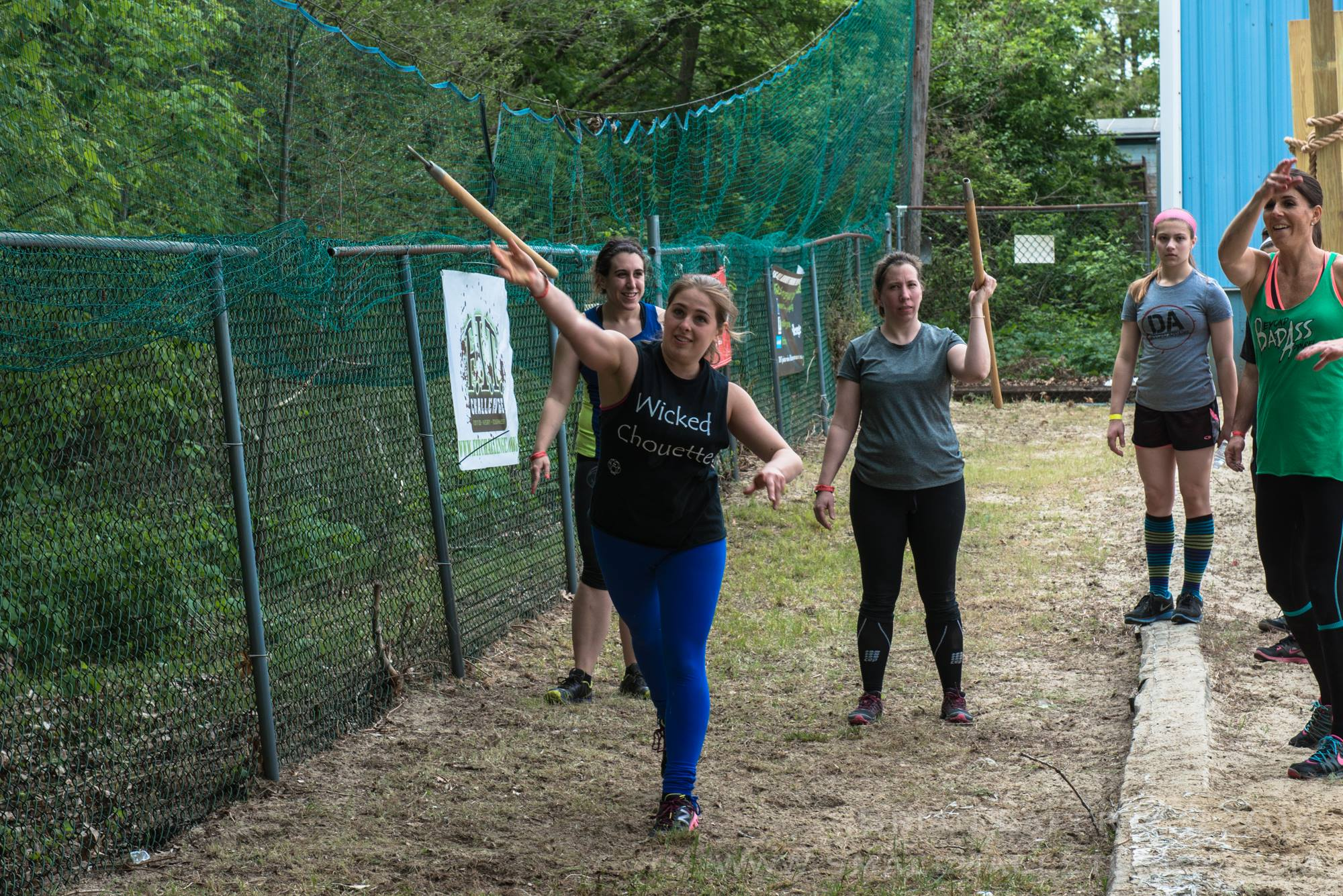 Obstacle Course Spear Throw