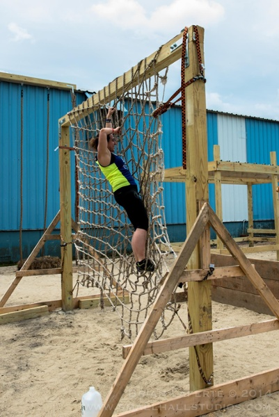Cargo Net Climb Obstacle Course Race New England