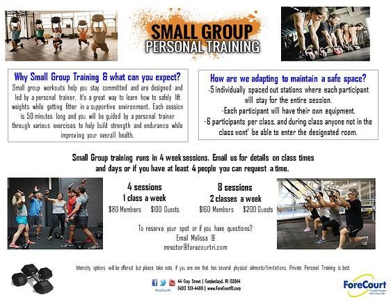small group website march 2021